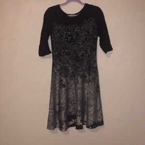 Midi black and gray dress